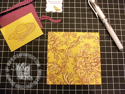 Stampin up garden from the heart signo gel pen