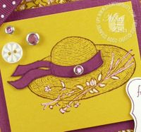 Stampin up garden from the heart straw hat