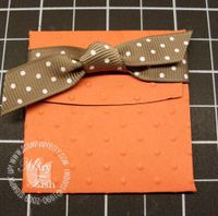 Stampin up bitty box envelope