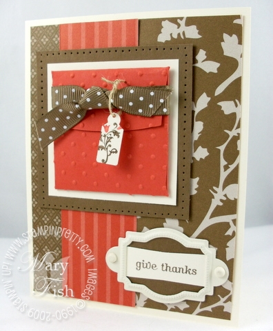 Stampin up thanksgiving card autumn traditions
