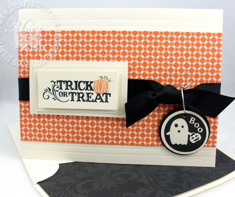Stampin up holiday best halloween card
