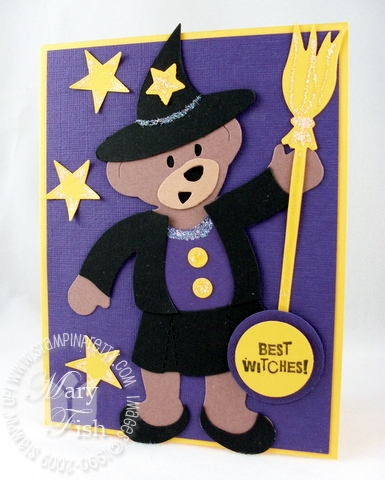 Stampin up build a bear halloween witch