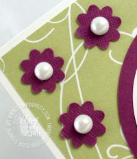 Stampin up boho blossom punch pretties pearls