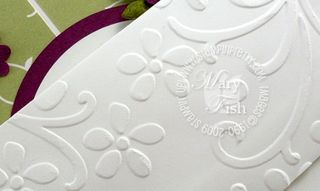 Stampin up elegant bouquet envelope flap