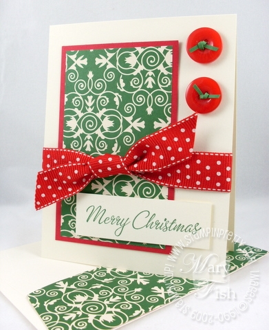 Stampin up four the holidays christmas card