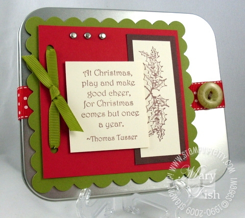 Stampin up good cheer dvd tin 2