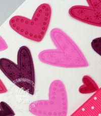 Stampin up heart to heart punch