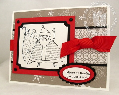 Stampin up just beclause A2 card