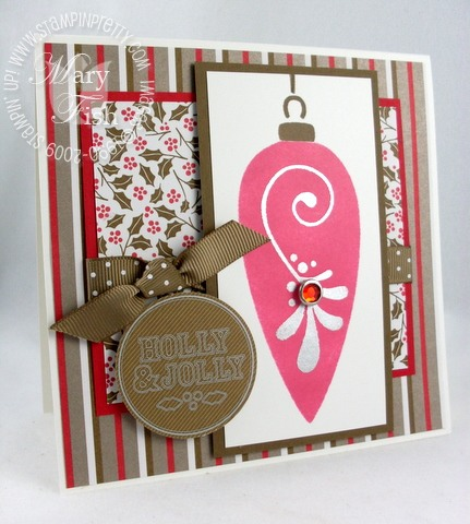 Stampin up mojo monday vintage ornament 2