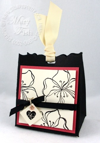 Stampin up embrace life fancy favor box