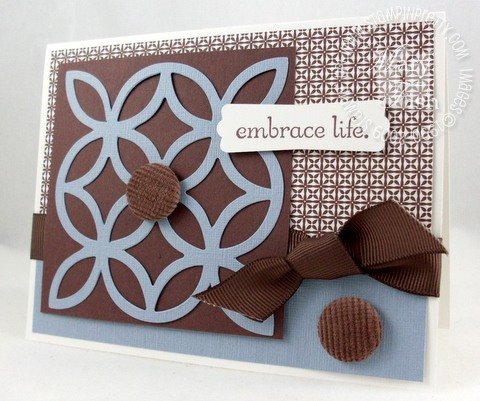 Stampin up lattice embrace life