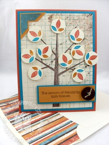 Stampin up season of friendship autumn meadows