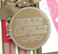 Stampin up merry and bright rubons