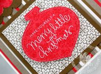 Stampin up mojo monday merry and bright rub-ons
