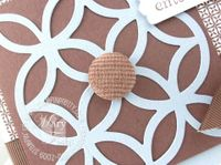 Stampin up lattice corduroy button