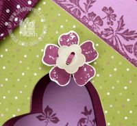 Stampin up vintage vogue flower