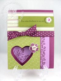 Stampin up vintage vogue movers & shapers heart