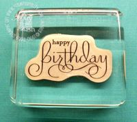 Stampin up clear mount stamps block
