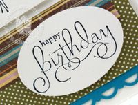 Stampin up well scriped happy birthday