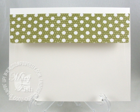 Stampin up sweet pea designer series paper envelope flap