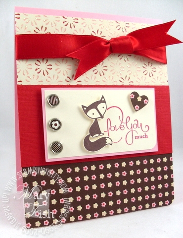 Stampin up fox & friends 2