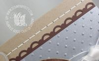 Stampin up perfect polka dots textured impressions folder