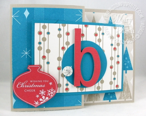 Stampin up holiday lounge trifold card
