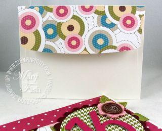 Stampin up sweet pea designer paper envelope flap
