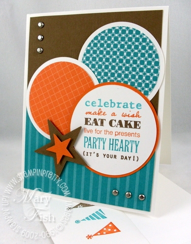 Stampin up mojo monday 116 birthday card