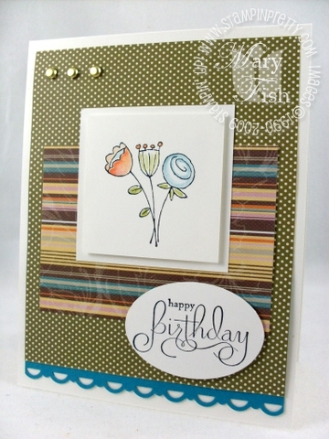Stampin up sale-a-bration happy moments birthday