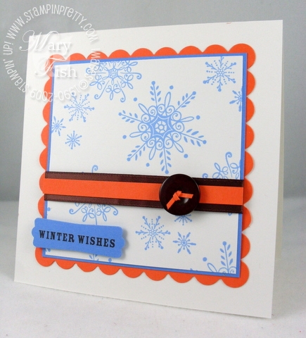 Stampin up serene snowflakes pals paper arts 2