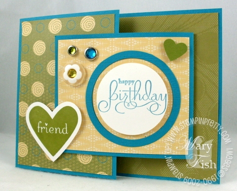 Stampin up well scripted birthday card