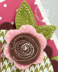 Stampin up sweet pea stitched felt