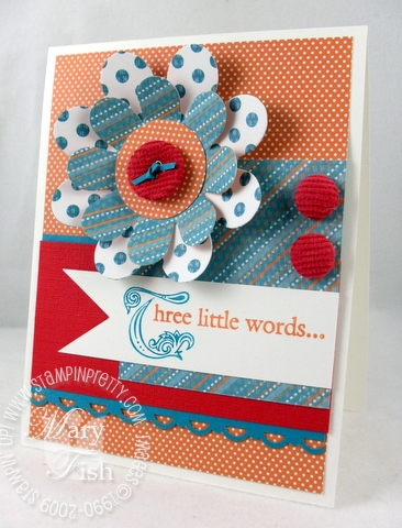Stampin up mojo monday three little words