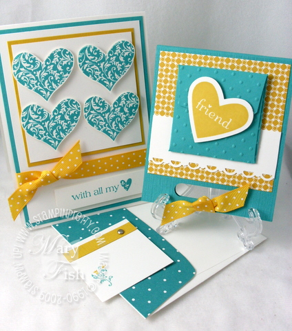Stampin up i heart hearts duo stampin pretty