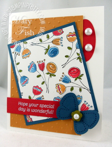 Stampin up happy moments saleabration card