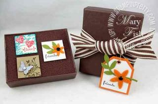 Stampin up simply adorned tiny tags