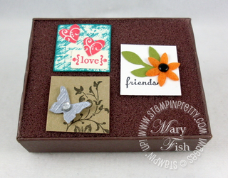 Stampin up simply adorned tiny tags trio