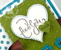Stampin up well scripted love heart