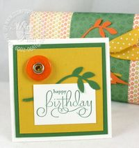 Stampin up well scripted happy birthday card
