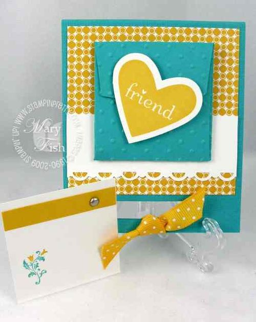 Stampin up i heart hearts tiny tags
