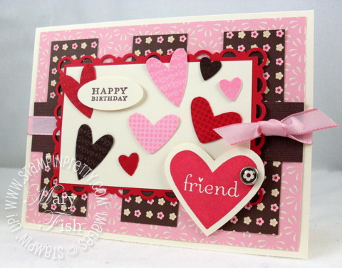 Stampin up i heart hearts valentines day