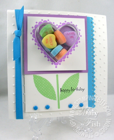 Stampin up sweetheart treat cup
