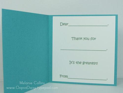 Boy Thank You Card Inside