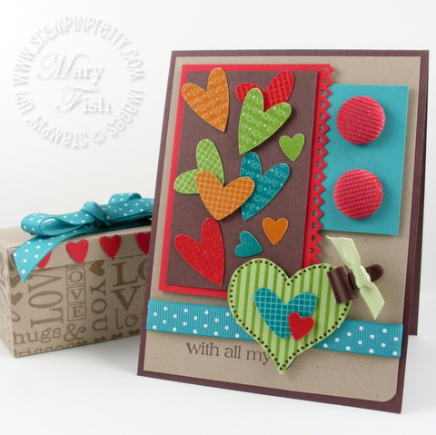 Stampin up i heart hearts card and box #2