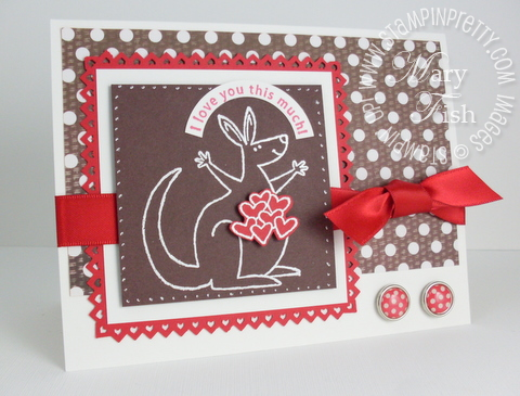 Stampin up pinking heart punch valentine