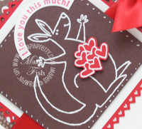 Stampin up build a roo valentine