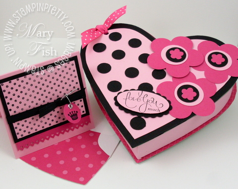 Stampin up on board heart book box