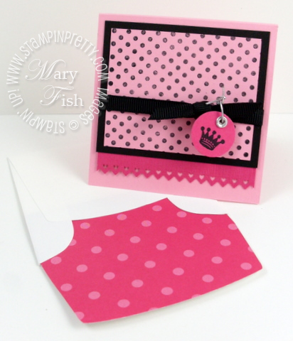 Stampin up dot dot dot line envelope