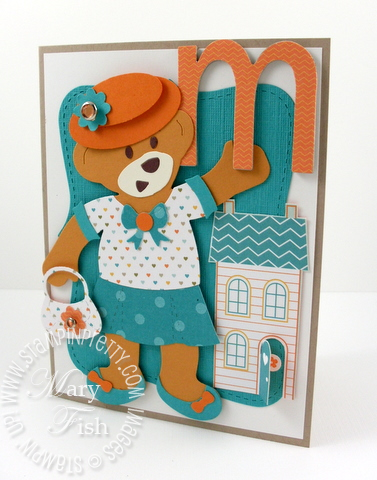 Stampin up build a bear top note die